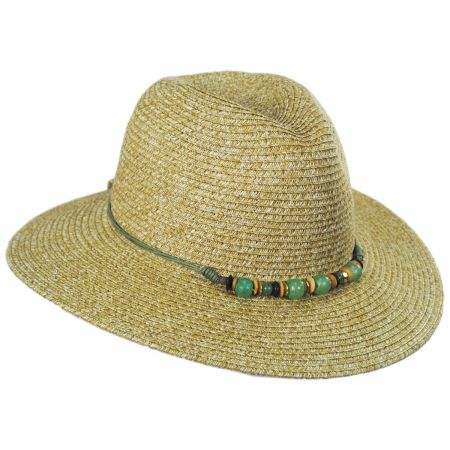 Physician Endorsed Beach Glass Toyo Straw Fedora Hat