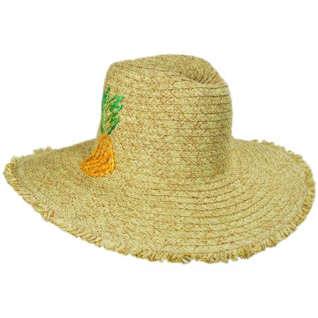 a8922a63981 San Diego Hat Company Pineapple Embroidered Toyo Straw Blend Fedora Hat.  Summer 2019