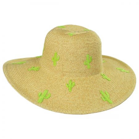 Cactus Embroidered Toyo Straw Blend Sun Hat alternate view 1