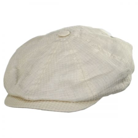 Massey Cotton and Linen Newsboy Cap