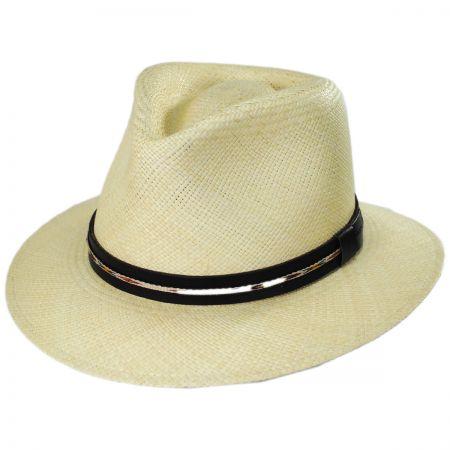 Stansfield Panama Straw Fedora Hat