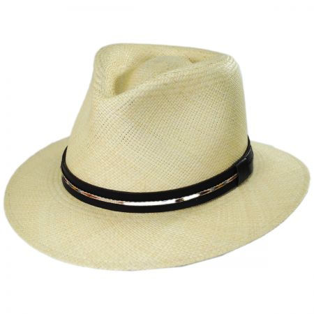 Stansfield Panama Straw Fedora Hat alternate view 5