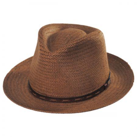 Bailey Lappen Raindura Straw Fedora Hat
