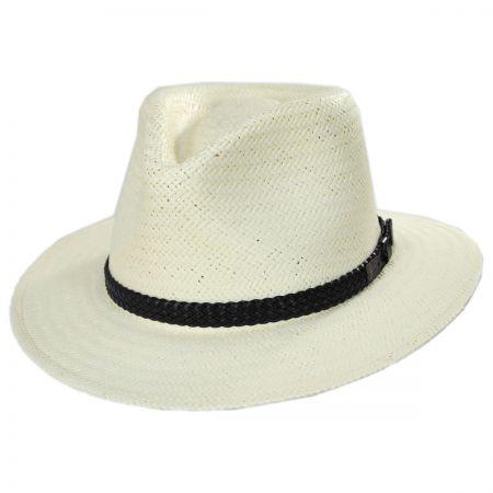Bristol Raindura Straw Fedora Hat