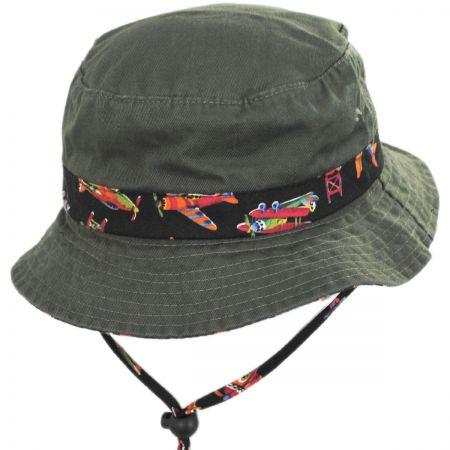 Aircraft Cotton Kids Bucket Hat alternate view 5