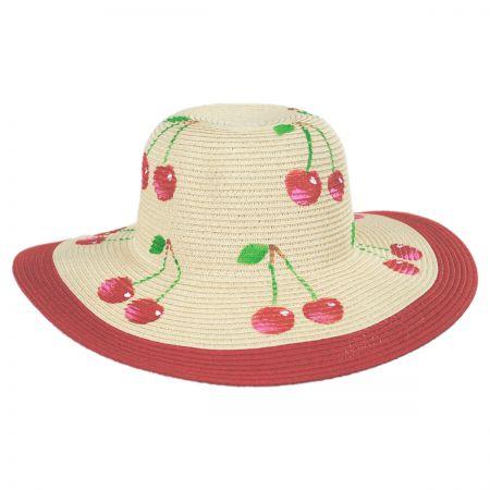 Summer Fruit Kids Toyo Straw Blend Sun Hat