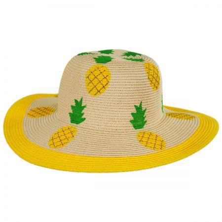 San Diego Hat Company Summer Fruit Kids Toyo Straw Blend Sun Hat