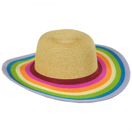 8b0088f4b27 San Diego Hat Company Roy G Biv Kids Toyo Straw Blend Sun Hat. Summer 2019