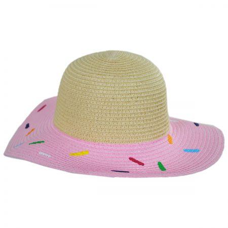 San Diego Hat Company Kids Sprinkle Donut Toyo Straw Sun Hat
