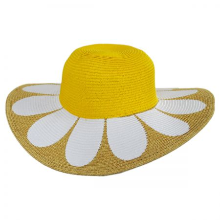 San Diego Hat Company Kids Daisy Toyo Straw Blend Sun Hat