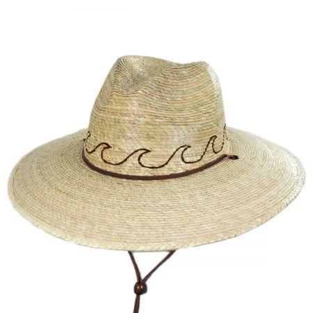 San Diego Hat Company Oceano Tripilla Palm Straw Lifeguard Hat