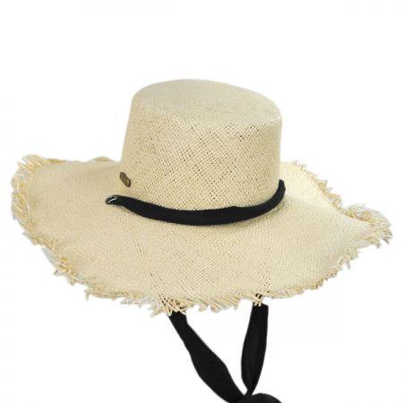 Linen Scarf Toyo Straw Sun Hat