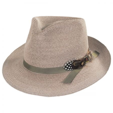 Aviator Hemp Straw Fedora Hat alternate view 13