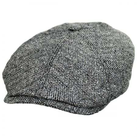 Silk Herringbone Newsboy Cap alternate view 13