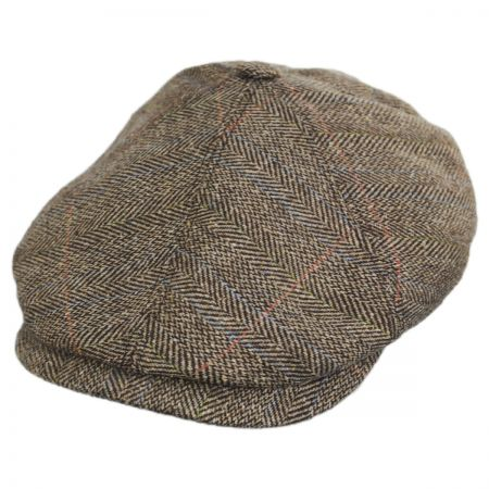 Silk Herringbone Newsboy Cap alternate view 1