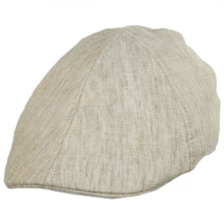 77b5321ef04603 Linen Flat Cap at Village Hat Shop