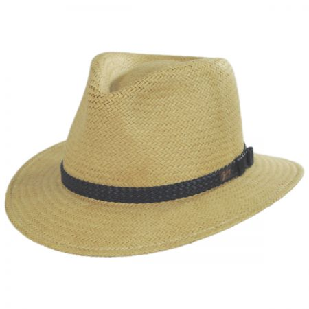 Bristol Raindura Toyo Straw Blend Fedora Hat alternate view 1
