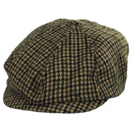 Brixton Hats Brood Adjustable Houndstooth Wool Blend Newsboy Cap