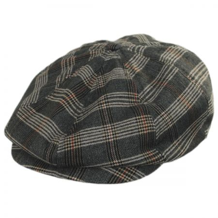 Brixton Hats Brood Plaid Newsboy Cap