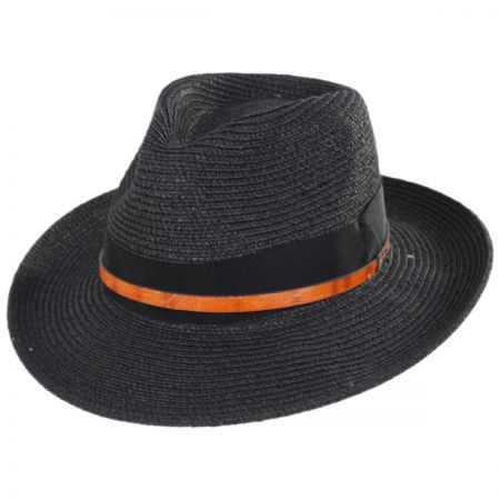 Denney Toyo Straw Blend Fedora Hat