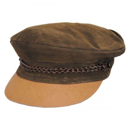 Kayla Leather Suede Fiddler Cap alternate view 56
