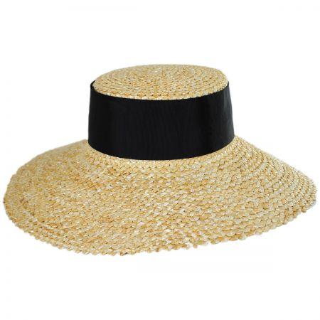Jeanne Simmons Chevron 4.5 Inch Brim Wheat Braid Lampshade Hat