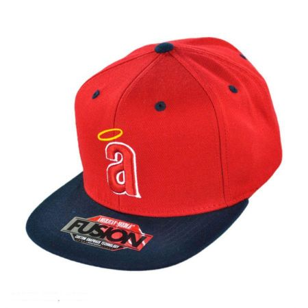 American Needle Los Angeles Angels of Anaheim MLB Back 2 Front Snapback Baseball Cap