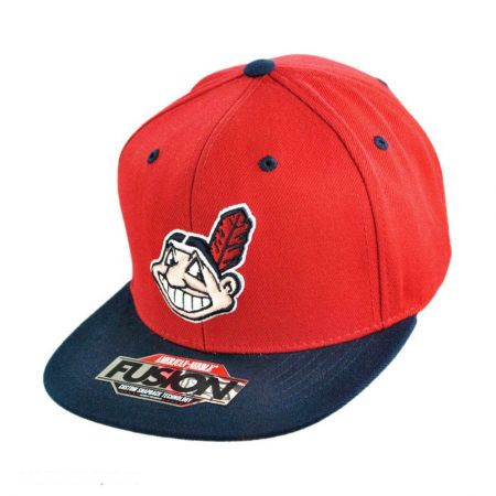 American Needle Back 2 Front Cleveland Indians Snapback Baseball Cap