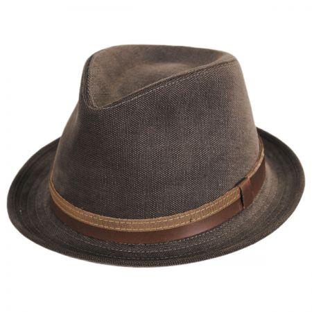Montini Cotton Stingy Brim Fedora Hat alternate view 1