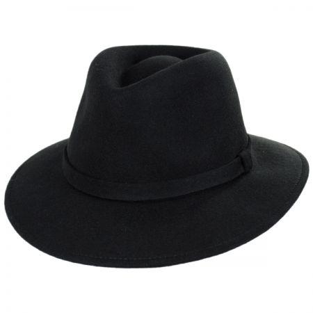 Stefeno Slope Earflap Wool Felt Fedora Hat