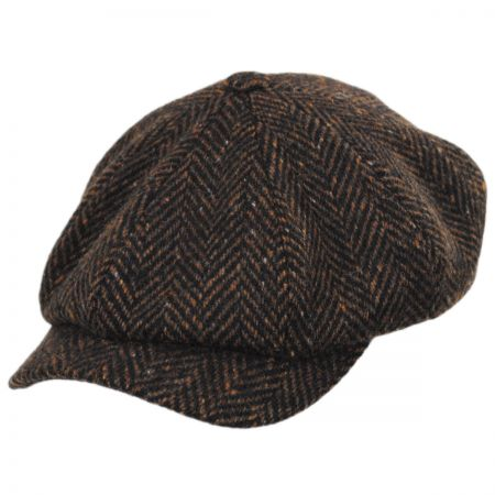 def22133cb1 Wigens Caps Magee Donegal Tweed Herringbone Wool Newsboy Cap
