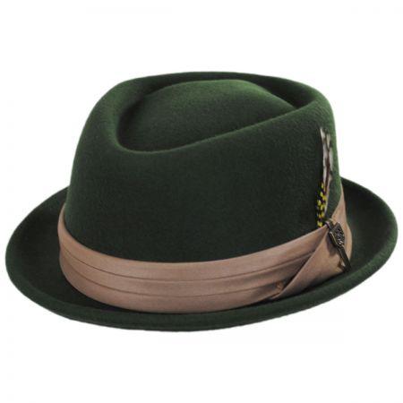 8f60ddb1b79 Brixton Hats Stout Wool Felt Diamond Crown Fedora Hat Stingy Brim ...