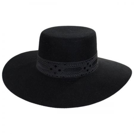Sierra Wool Felt Boater Hat alternate view 1