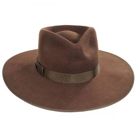Coco Wool Felt Rancher Fedora Hat