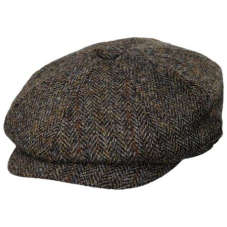 B2B Jaxon & James Harris Tweed Northbay Wool Newsboy Cap