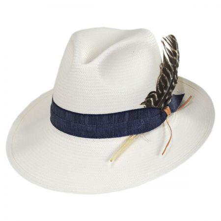 Fourteen Points Shantung Straw Fedora Hat