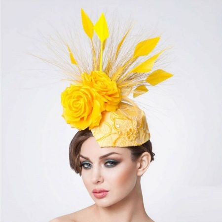 Arturo Rios Collection Zahara Fascinator Hat by Arturo Rios
