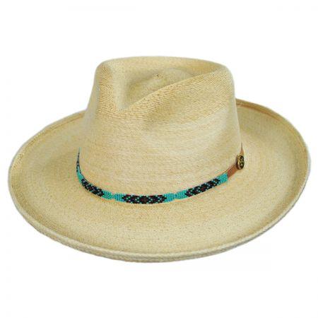 Native Palm Straw Fedora Hat
