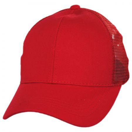 C.C PonyCaps Mesh High Ponytail Adjustable Trucker Baseball Cap
