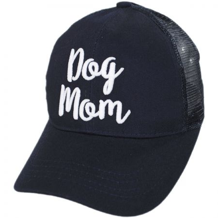 Dog Mom High Ponytail Adjustable Trucker Baseball Cap alternate view 11