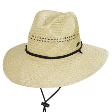 Panama Jack Aussie Palm Straw Lifeguard Hat
