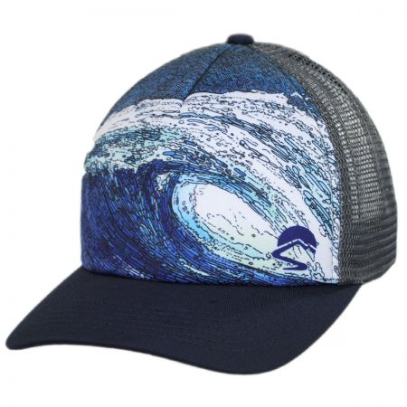 Shorebreak Trucker Snapback Baseball Cap alternate view 1