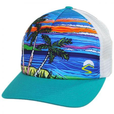 Sunday Afternoons Paradise Trucker Snapback Baseball Cap