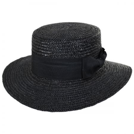 Jeanne Simmons Barca Milan Straw Boater Hat