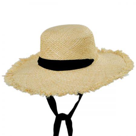 Jeanne Simmons Bondi Raffia Straw Sun Hat