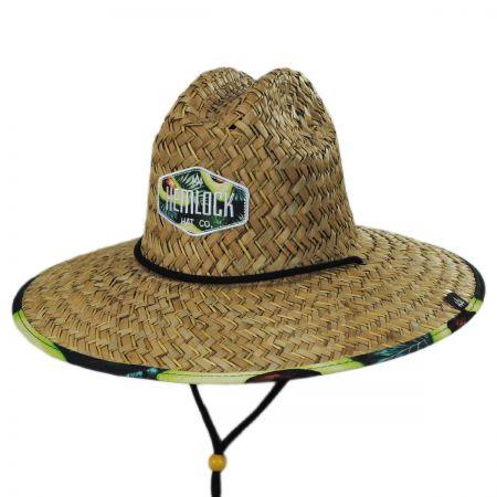 f40989350e739 Hemlock Hat Co Avocado Straw Lifeguard Hat