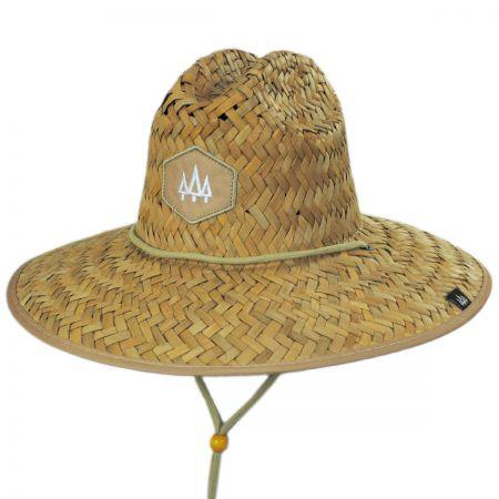 Khaki Straw Lifeguard Hat