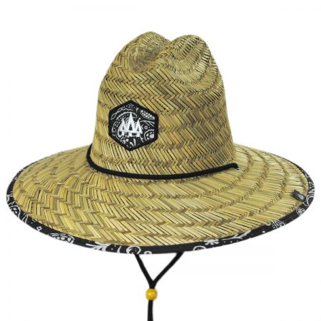 Hemlock Hat Co Bandana Straw Lifeguard Hat