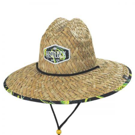 Hemlock Hat Co Mahi Mahi Straw Lifeguard Hat