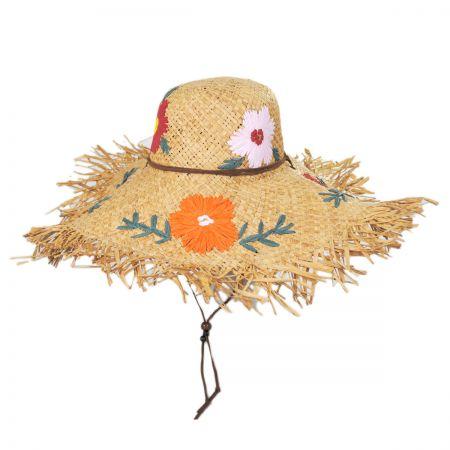 Jeanne Simmons Fiore Raffia Straw Swinger Hat